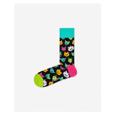 Happy Socks Funny Cat Skarpetki Czarny Wielokolorowy