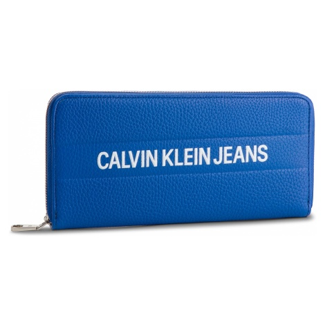 Duży Portfel Damski CALVIN KLEIN JEANS - Logo Banner Large Ziparound K40K400840 455