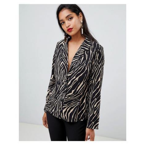 Y.A.S zebra print pyjama style shirt