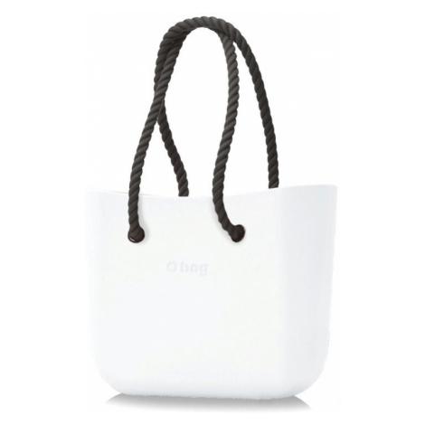 O bag biała torebka Bianco z długimi czarnymi linami