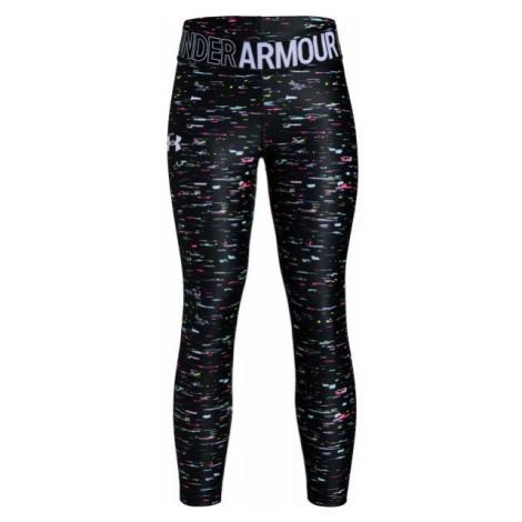 Under Armour ARMOUR HG PRINTED ANKLE CROP czarny S - Legginsy dziewczęce