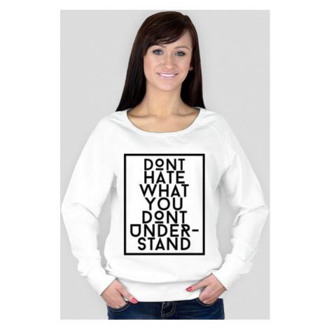 Bluza damska dont hate biała