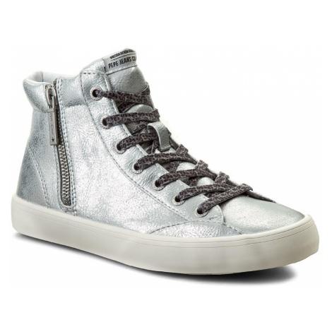 Sneakersy PEPE JEANS - Clinton Combi PLS30359 Silver 934