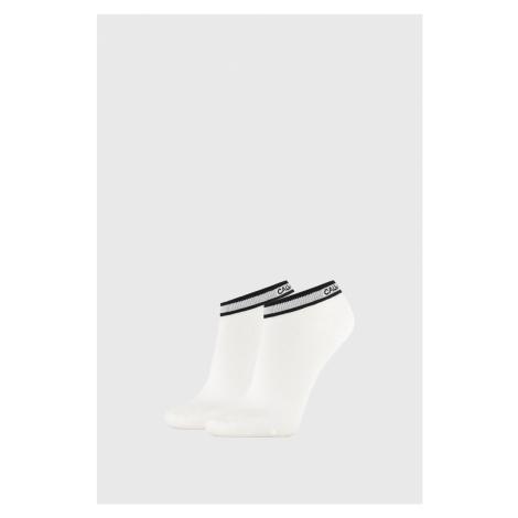 2 PACK białych damskich skarpetek Calvin Klein Spencer