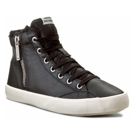 Sneakersy PEPE JEANS - Clinton Fur PLS30358 Black 999