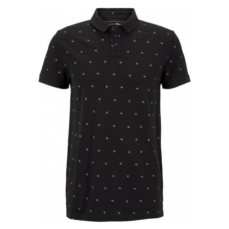 TOM TAILOR DENIM Koszulka biały / czarny