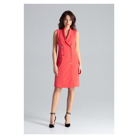 Sukienka damska Lenitif L044 Coral