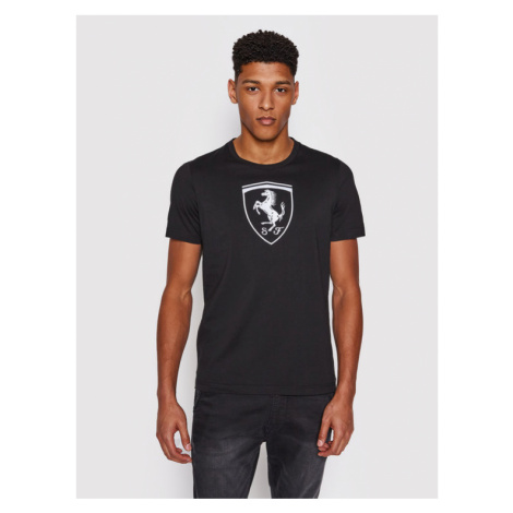 Puma T-Shirt Ferrari Race Big Shield 599849 Czarny Regular Fit
