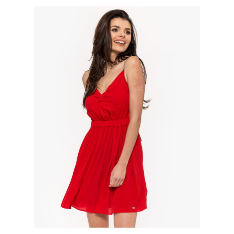 """Tommy Jeans """"Essential Strap Dress"""" Red Tommy Hilfiger"""