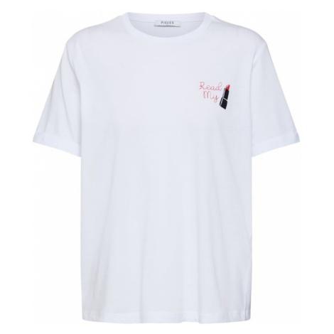 PIECES Koszulka 'PCJENNY SS TEE D2D PB' biały