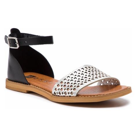 Sandały NESSI - 18381 Czarny/Srebro 11