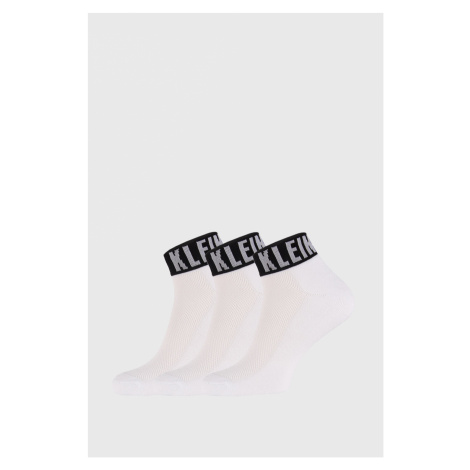 3 PACK białych skarpetek Calvin Klein Drake