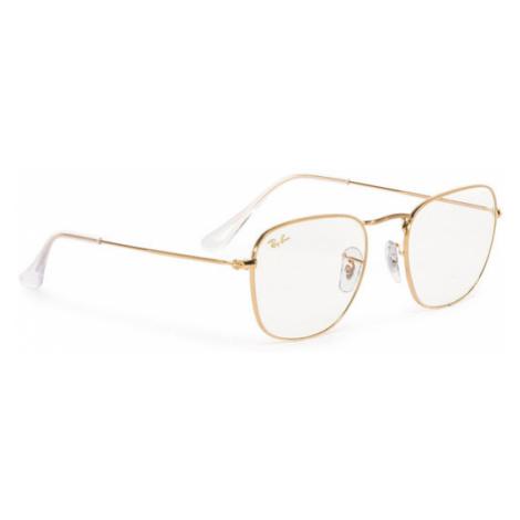 Ray-Ban Okulary przeciwsłoneczne Frank 0RB3857 9196BL Złoty