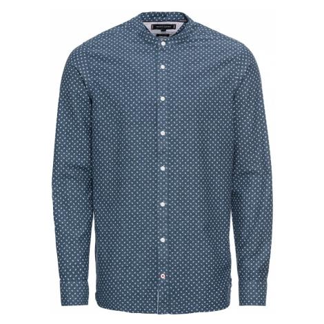 TOMMY HILFIGER Koszula 'SLIM CO/LI MICRO PRINT SHIRT' ciemny niebieski