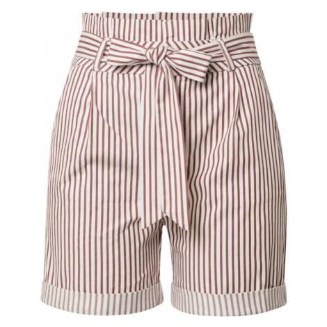 VERO MODA Spodnie 'EVA' biały / czerwony