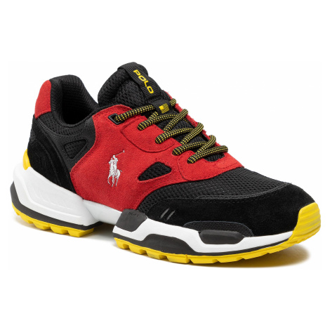 Sneakersy POLO RALPH LAUREN - Polo Jgr Pp 809829840002 Red/Black/Cyber Yellow