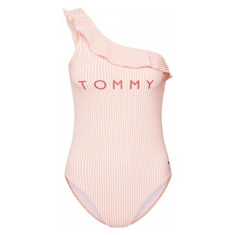 Tommy Hilfiger Underwear Strój kąpielowy różowy pudrowy / biały