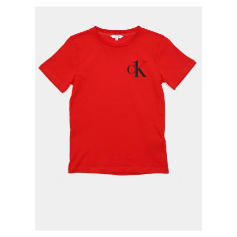 Calvin Klein czerwony chłopięce koszulka Tee