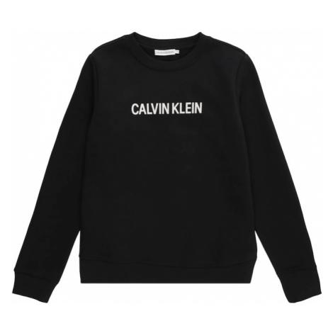 Calvin Klein Jeans Bluzka sportowa 'LOGO BRUSHED CREW NECK' czarny