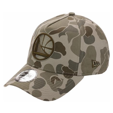 czapka z daszkiem New Era 9FO Aframe Camo NBA Golden State Warriors - Stone Camo/Black