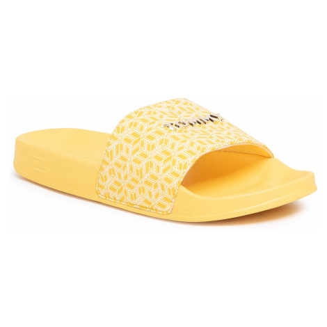 Klapki TOMMY HILFIGER - Th Monogram Allover Pool Slide FW0FW04813 Sunny ZEK