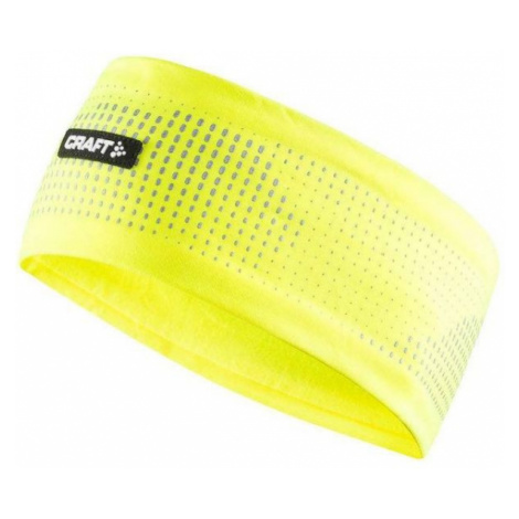 Craft BRILLIANT 2.0 HEADBAND żółty L/XL - Opaska funkcjonalna do biegania