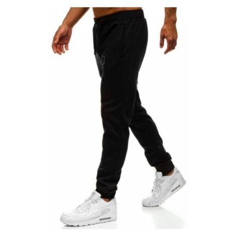 Spodnie męskie dresowe czarne Denley XW01-A J.STYLE