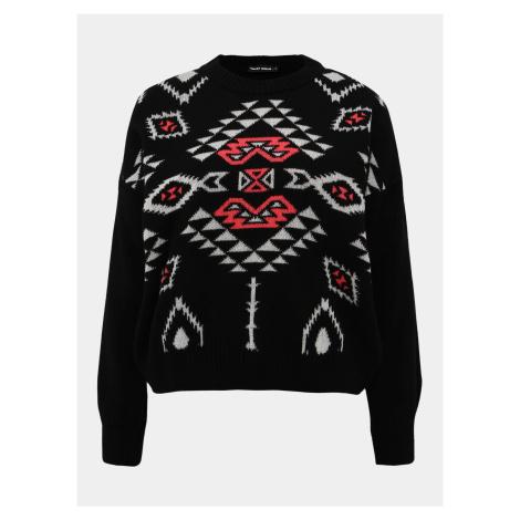 Czarny wzorzysty sweter TALLY WEiJL Aztec