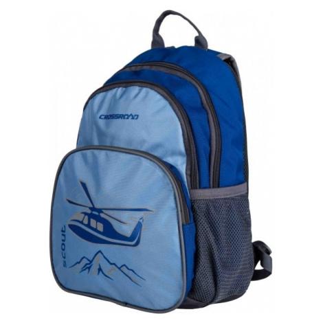 Crossroad SCOUT niebieski  - Uniwersalny plecak dziecięcy