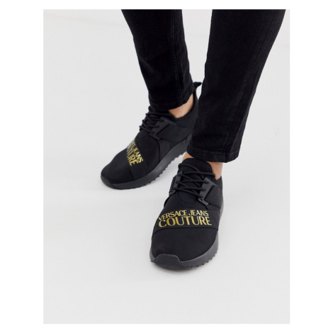 Versace Jeans Couture trainers with gold logo
