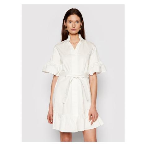 Silvian Heach Sukienka koszulowa PGP21334VE Biały Regular Fit