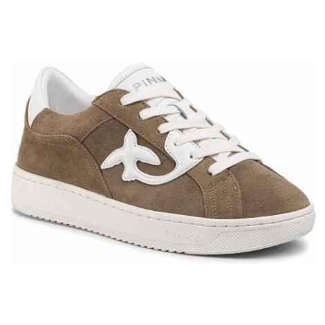 Sneakersy PINKO - Liquirizia 1 PE 20 BLKS1 1H20PX Y61B Verde Militare/Bianco