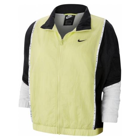 Nike Sportswear Kurtka przejściowa czarny / biały / neonowo-żółty