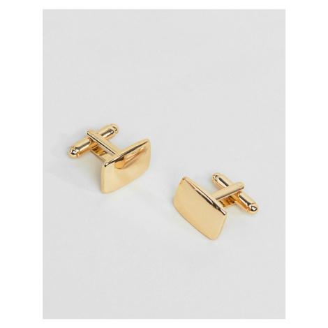 ASOS DESIGN square cufflinks in gold tone
