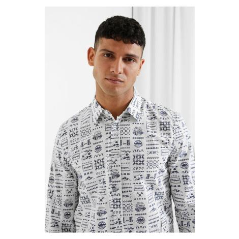 Desigual biała koszula męska Cam Tirso