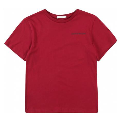 Calvin Klein Jeans Koszulka 'CHEST LOGO REGULAR T' czerwony
