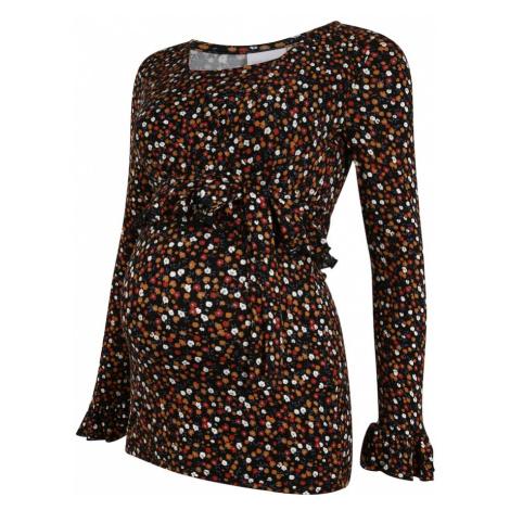 MAMALICIOUS Koszulka 'TESS' czarny / ciemnopomarańczowy / czerwony Mama Licious