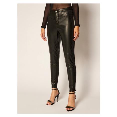 Calvin Klein Jeans Spodnie skórzane J20J214183 Czarny Slim Fit