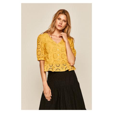żółte damskie bluzki