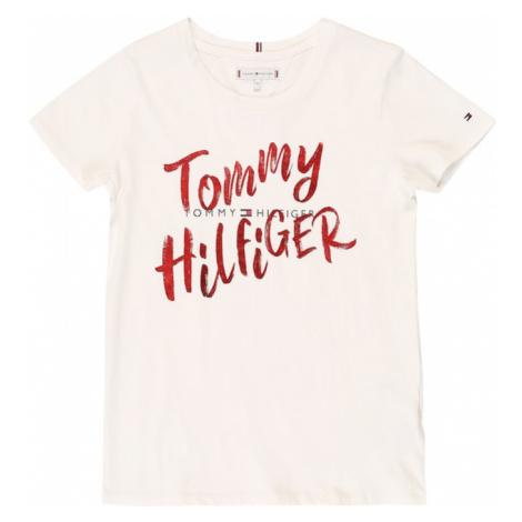 TOMMY HILFIGER Koszulka biały / ognisto-czerwony