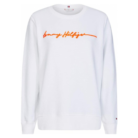 TOMMY HILFIGER Bluzka sportowa 'Annie' biały / pomarańczowy