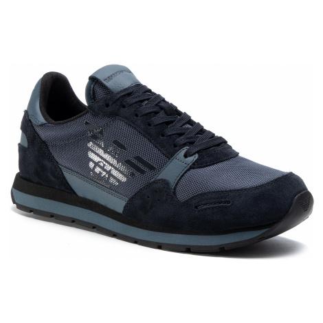 Sneakersy EMPORIO ARMANI - X4X215 XL198 N060 Lead/Dark Slate/Dark