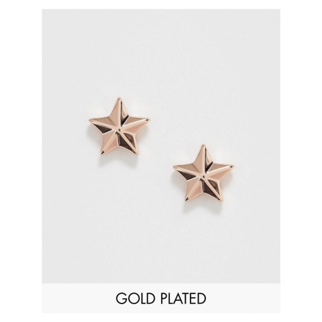 Ted Baker Shaylaa rose gold plated star stud earrings