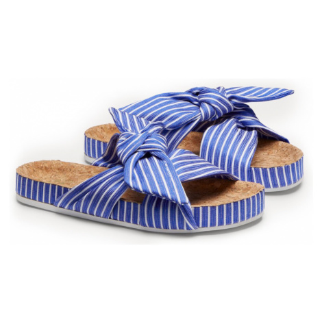 Scotch & Soda klapki w paski Yolin Blue/White