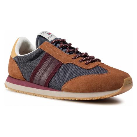 Sneakersy TOMMY HILFIGER - Lo Mix Winter Runner Stripes FM0FM03004 Desert Sky DW5