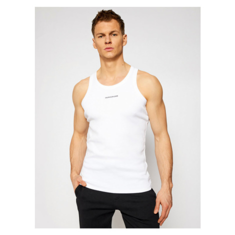Calvin Klein Jeans Tank top J30J318071 Biały Regular Fit