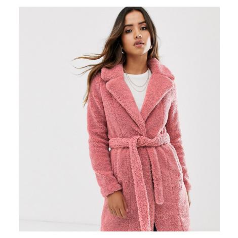 Vero Moda faux fur belted coat