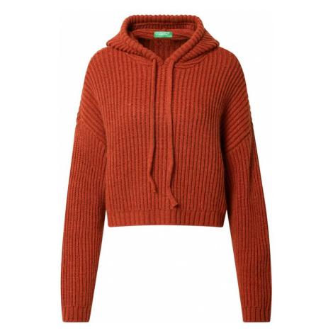 UNITED COLORS OF BENETTON Sweter pomarańczowo-czerwony
