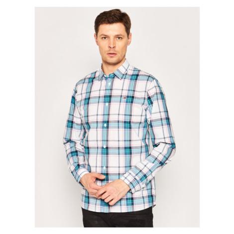 Tommy Jeans Koszula Essential Check DM0DM07911 Biały Regular Fit Tommy Hilfiger