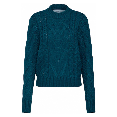 IVYREVEL Sweter 'CABLE KNIT' ciemnozielony